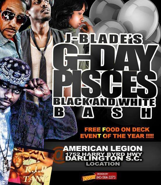 J-Blade's G-Day Pisces Black and White Bash Music By Dj J Watts Hosted By Uncle Buddah http://bit.ly/A7UFnF