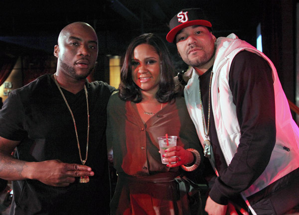 Charlamagne, Angela Yee and DJ Envy attend the Power Live Presents Keyshia Cole In Concert at B.B. King