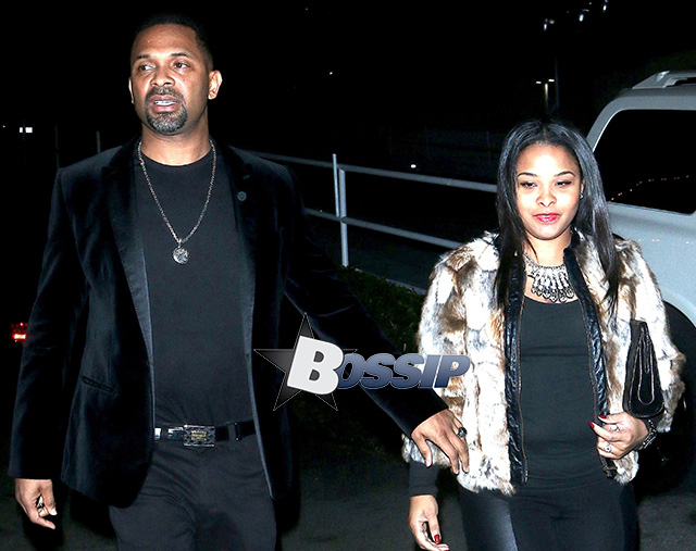 Mike Epps and Mechelle Epps arrive at the Comedy Store on Sunset Boulevard