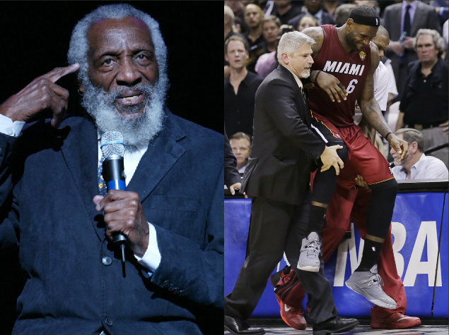 Dick Gregory and Lebron James